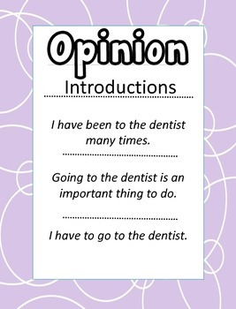 Teeth Writing-Informative Narrative Opinion CCSS