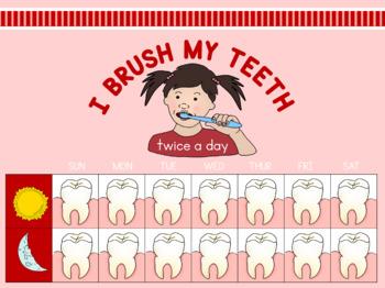 Teeth brushing chart