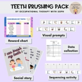 Teeth brushing social story, visual prompts, data collection and more...