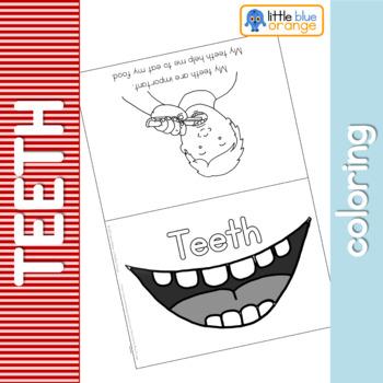 Teeth coloring booklet