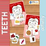 Teeth - healthy food sorting activity