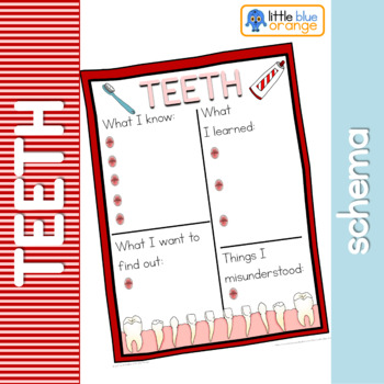 Teeth schema  worksheet