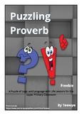 Teewye's Puzzling Proverb Freebie