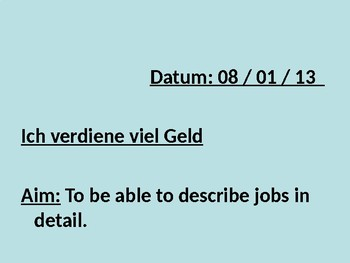 Teilzeitjobs / Jobben / Part time jobs