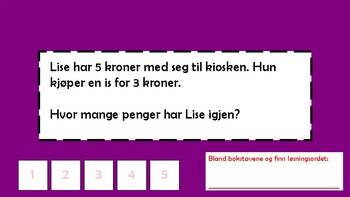1.-2. klasse Tekstoppgave - praktisk (bokmål)