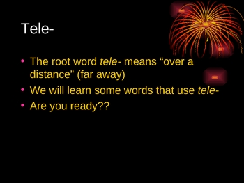 Tele and Rupt Root Words