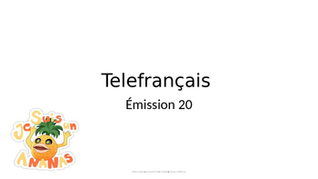 Telefrancais episode 20: activities and vocabulary