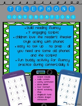 Telephone Conversation Scripts for building reading fluency