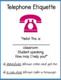Telephone Etiquette Printable for Classrooms
