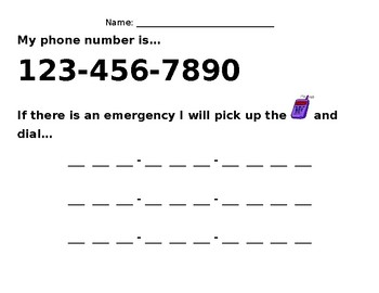 Telephone Number Practice