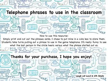 Telephone Phrases