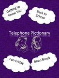 Telephone Pictionary First Day of School Activity *Updated!*