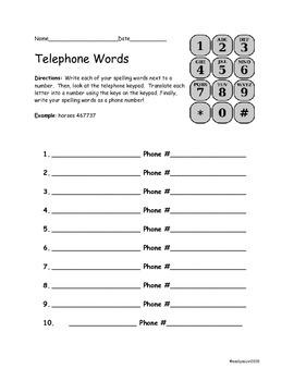 Telephone Words
