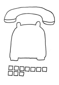 Telephone Craft Template