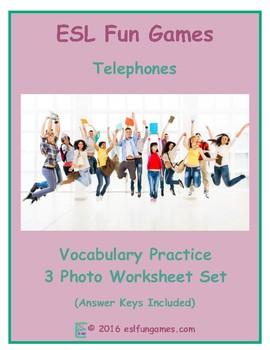 Telephones 3 Photo Worksheet Set