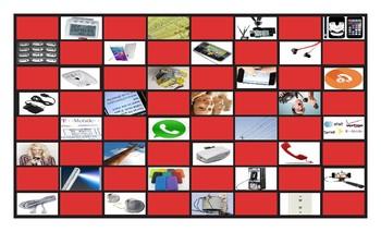 Telephones Checker Board Game