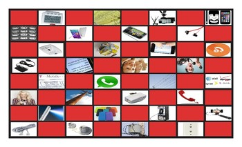 Telephones Legal Size Photo Checkerboard Game