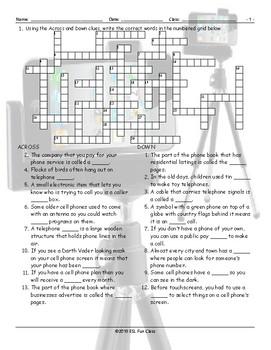Telephones Crossword Puzzle