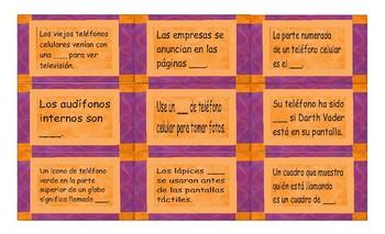 Telephones Spanish Card Game
