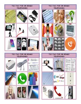 Telephones Tic-Tac-Toe or Bingo