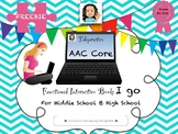 Telepractice-AAC Functional Core Words for Middle School and High School-FREEBIE