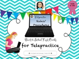 Telepractice: Rules and Procedures Back To School Task Cards