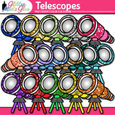 Rainbow Telescope Clip Art | Astronomy Graphics for Solar System Resources