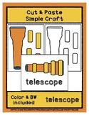 Telescope - Cut & Paste Craft - Super Easy Perfect for Pre