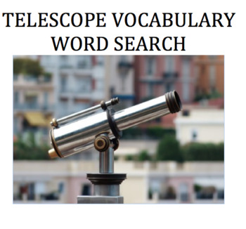 Telescope Vocabulary