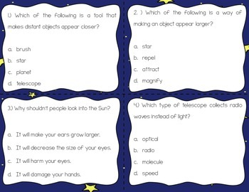 Telescopes Task Cards {Scoot}
