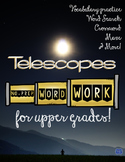 Telescopes Word Work {Science Vocabulary Practice}