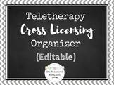 Teletherapy Cross Licensing Organizer Editable