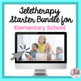 Teletherapy Starter Bundle for Elementary Students NO PRIN