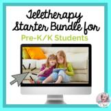 Teletherapy Starter Bundle PreK Kindergarten NO PRINT Spee