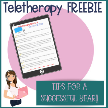 Teletherapy Tips For A Successful School Year (FREEBIE)
