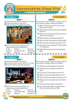 Television - ESL Speaking Activity
