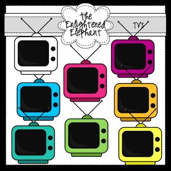Television Sets Clip Art