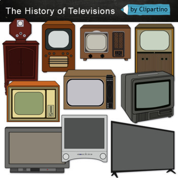 Television clipart-Vintage, Retro, history TV by ...
