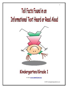 Tell Facts Found in an Informational Text Heard of Read Aloud