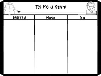 Tell Me A Story: Sequencing Graphic Organizer