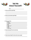 Tell Me About Yourself Worksheet