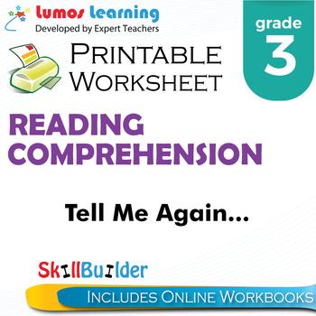 Tell Me Again... Printable Worksheet, Grade 3