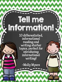 Tell Me Information - Informational Reading and Writing Worksheets - 10 Topics