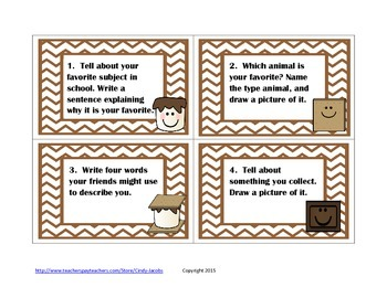 Tell Me S'More Task Cards Getting to Know You Back to School