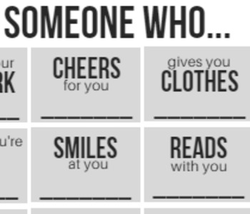 Tell Me Someone Who... Beginning of the Year Getting to Know You Activity