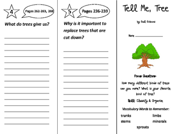 Tell Me, Tree Trifold - Imagine It 2nd Grade Unit 2 Week 5