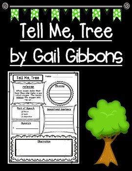 Tell Me, Tree by Gail Gibbons Semantic Maps