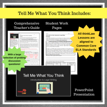 Tell Me What You Think: Using Real-Life Court Cases for Persuasive Writing