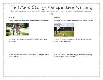 Tell Me a Story- Perspective/Point of View Writing