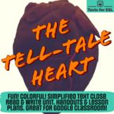 Tell Tale Heart. Adapted Close Read Halloween Fun. Full Un